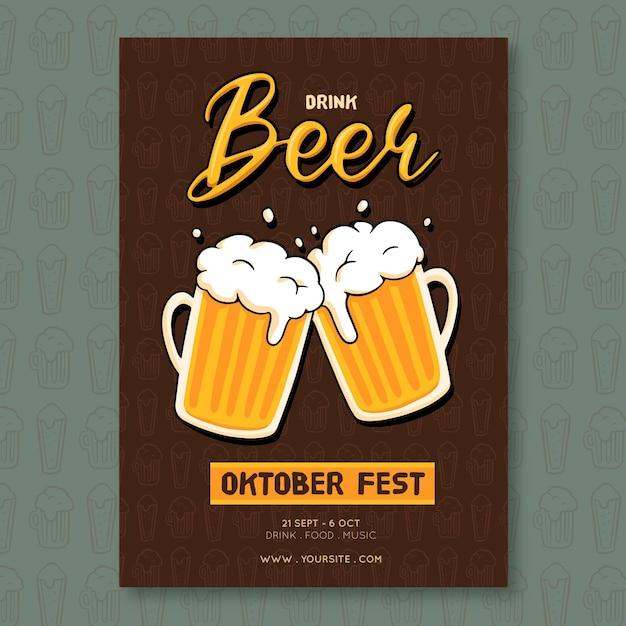 Cartaz da oktoberfest Vetor Premium