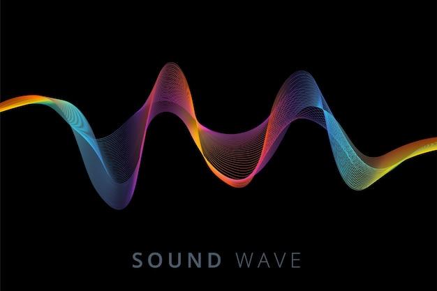 Cartaz da onda sonora Vetor grátis