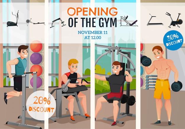 Cartaz de abertura do ginásio Vetor grátis