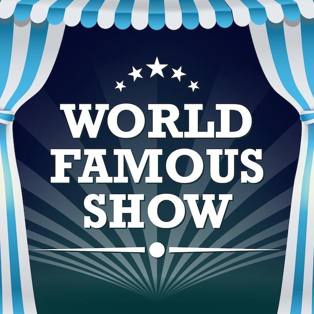 Cartaz de circo. show de mágica vintage. Vetor Premium