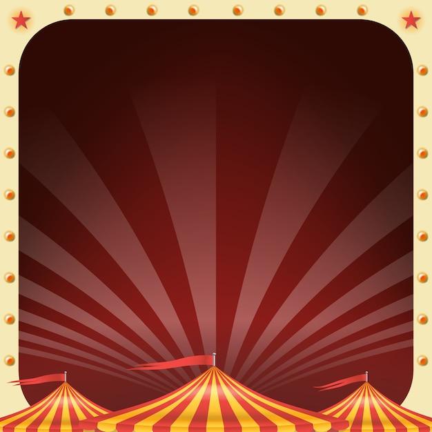 Cartaz de circo Vetor Premium