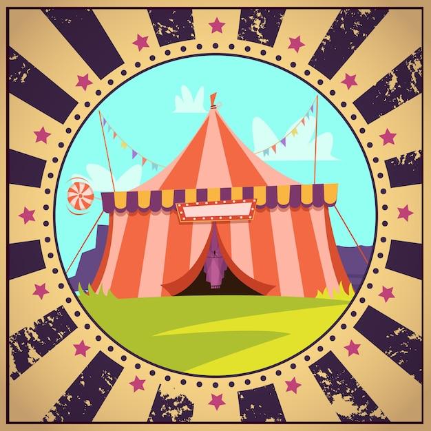 Cartaz de desenhos animados de circo Vetor grátis