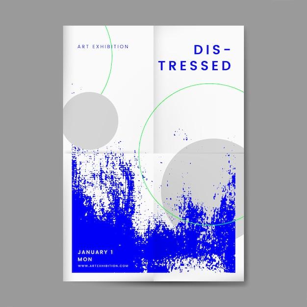 Cartaz de design afligido abstrato Vetor grátis