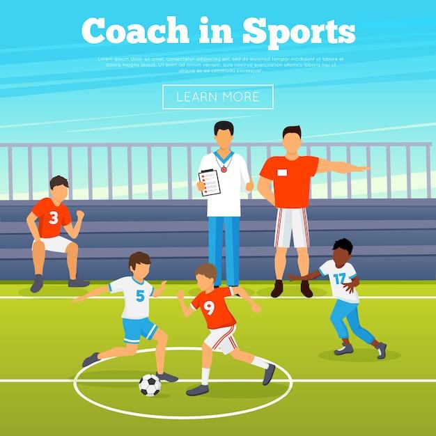 Cartaz de esporte de crianças Vetor grátis