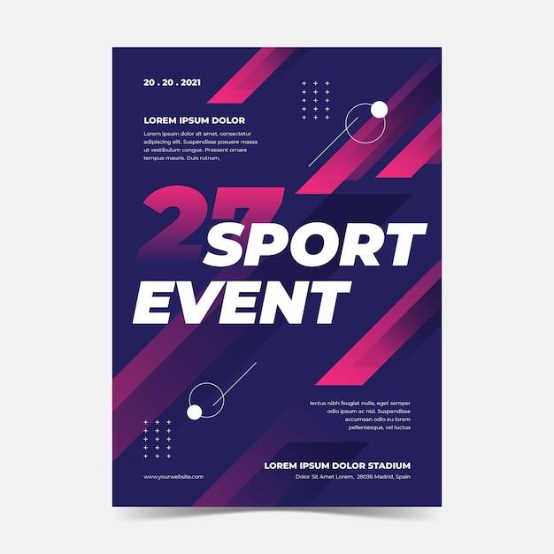 Cartaz de evento esportivo Vetor grátis