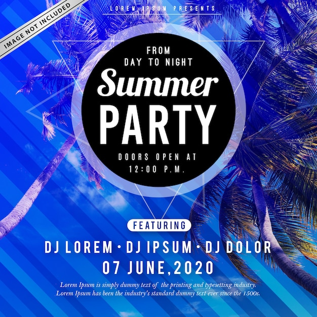 Cartaz de festa de verão Vetor Premium