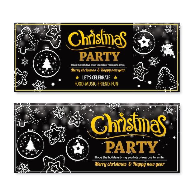 Cartaz de festa feliz natal convite. Vetor Premium