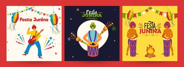 Cartaz de festa festa junina Vetor Premium