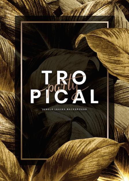 Cartaz de festa tropical Vetor grátis