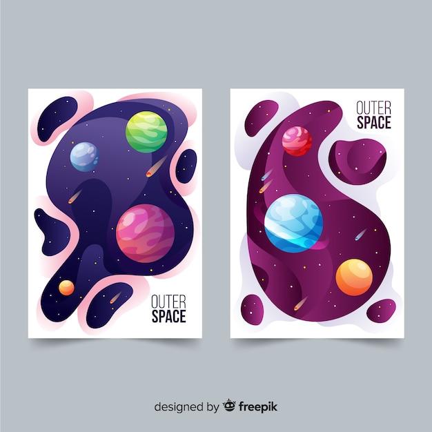 Cartaz de galáxia desenhada de mão Vetor grátis