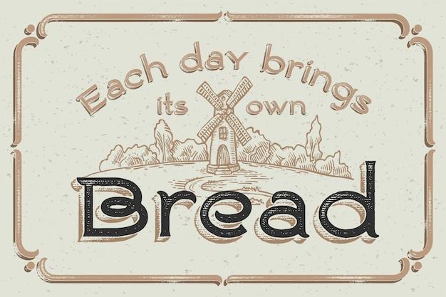 Cartaz de letras vintage com ilustrações artesanais Vetor grátis