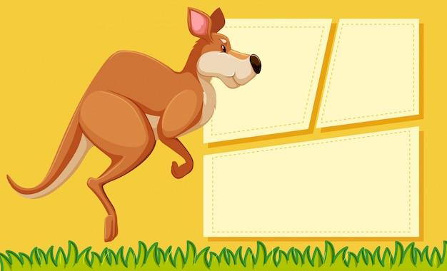 Cartaz de modelo de quadro animal com copyspace em branco Vetor grátis