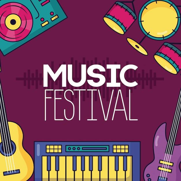 Cartaz de música festival Vetor grátis