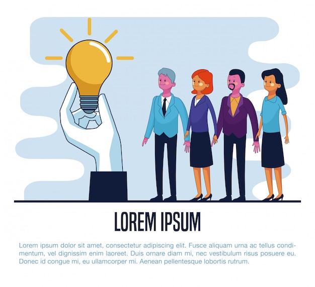 Cartaz de pessoas de negócios Vetor Premium