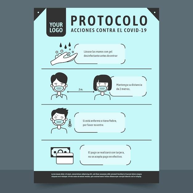 Cartaz de prevenção de coronavírus para lojas Vetor grátis