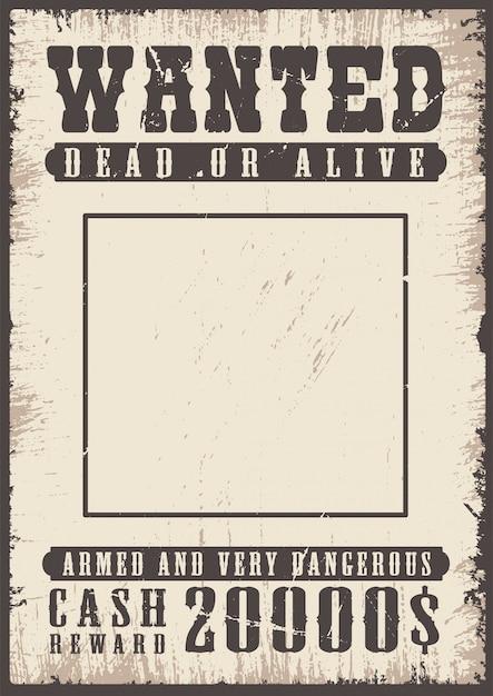 Cartaz de procurado vintage Vetor grátis