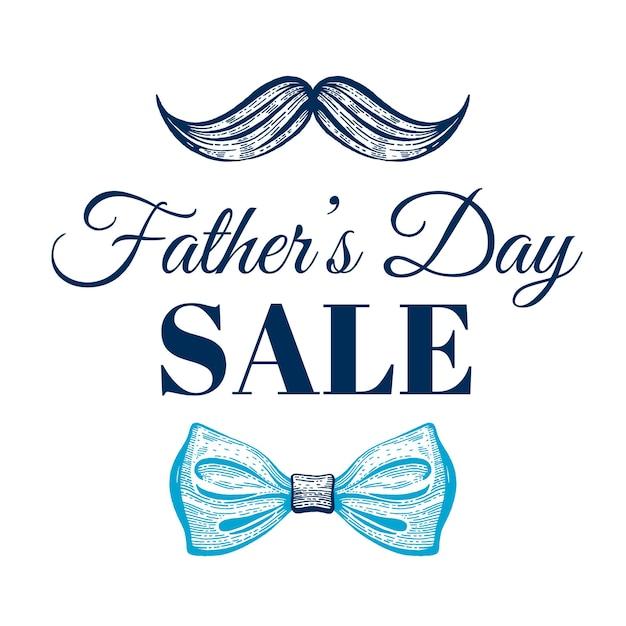 Cartaz de promoção de venda do dia do pai feliz. Vetor Premium