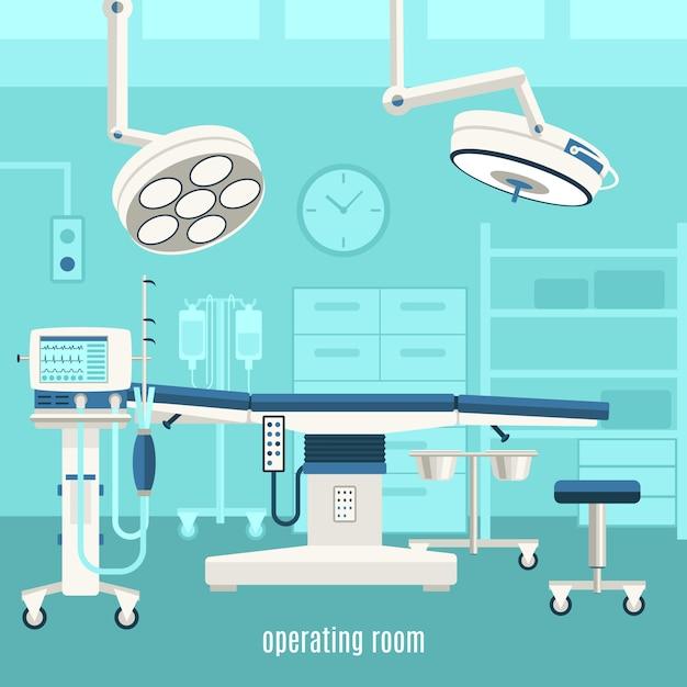 Cartaz de sala de cirurgia médica Vetor grátis