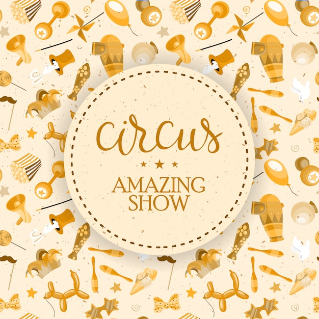 Cartaz de show de circo. Vetor grátis