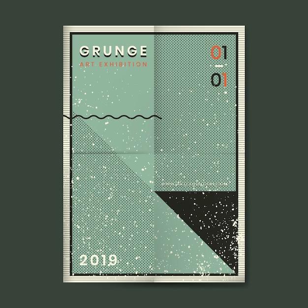 Cartaz de textura angustiado grunge Vetor grátis