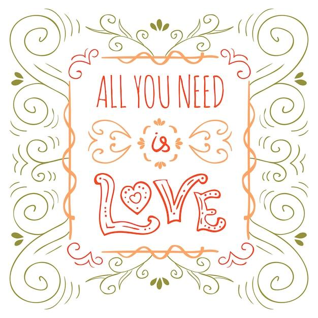 Cartaz de tipografia desenhada de mão. cartaz para amante, dia dos namorados, salvar o convite de data. Vetor grátis