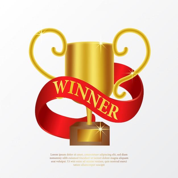 Cartaz de troféu de campeão Vetor Premium