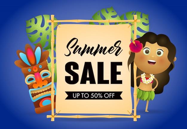 Cartaz de varejo de venda de verão Vetor grátis