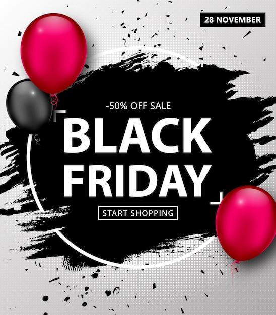 Cartaz de venda de sexta-feira negra Vetor Premium