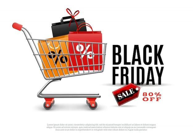 Cartaz de venda de sexta-feira negra Vetor grátis