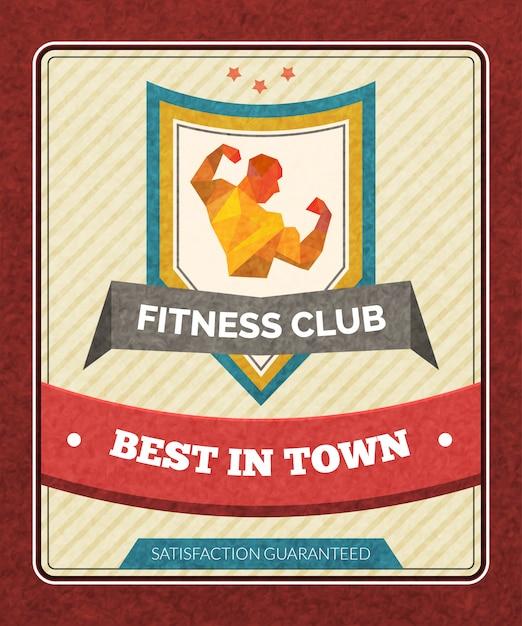 Cartaz do clube de aptidão Vetor grátis
