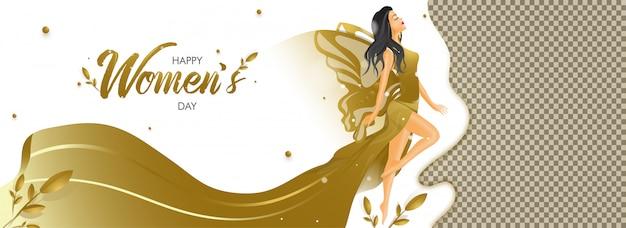Cartaz do dia da mulher feliz Vetor Premium