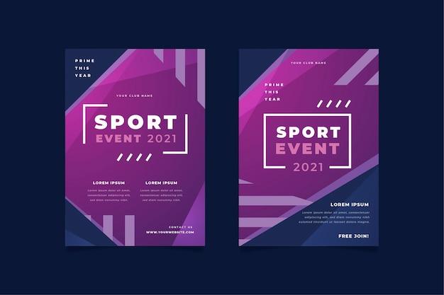 Cartaz do evento esportivo 2021 Vetor grátis