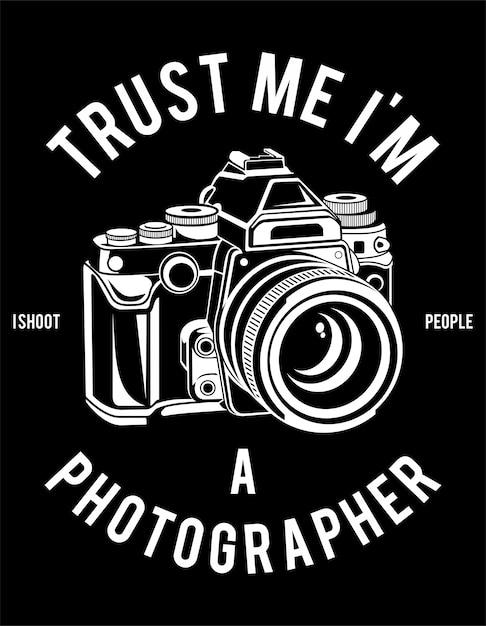 Cartaz do fotógrafo Vetor Premium