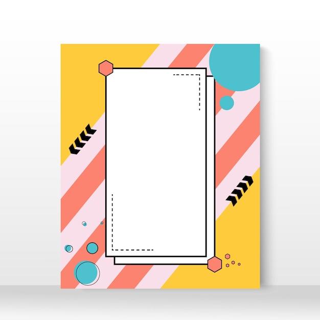 Cartaz geométrico irregular minimalista criativo. Vetor Premium