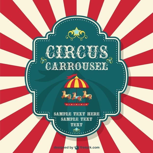 Cartaz livre carrossel circo Vetor grátis