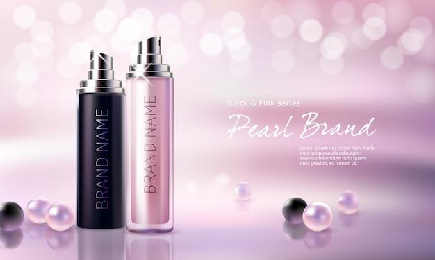 Cartaz para a promoção do produto cosmético premium hidratante e nutritivo. Vetor grátis