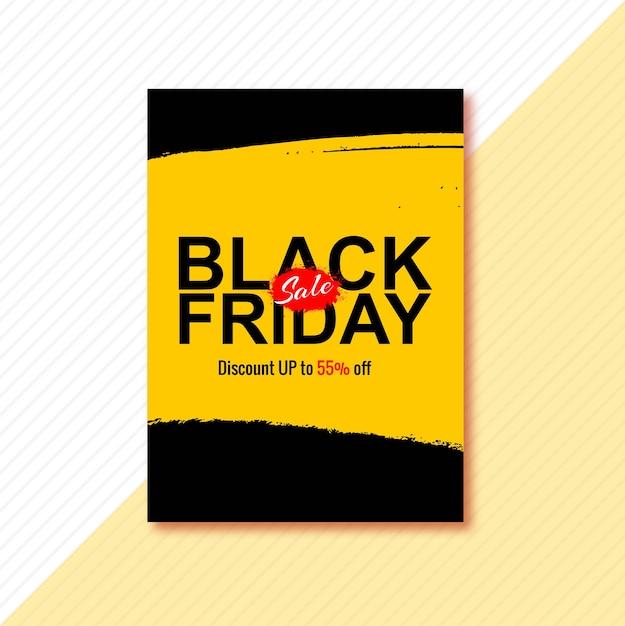Cartaz para design de brochura black friday Vetor grátis