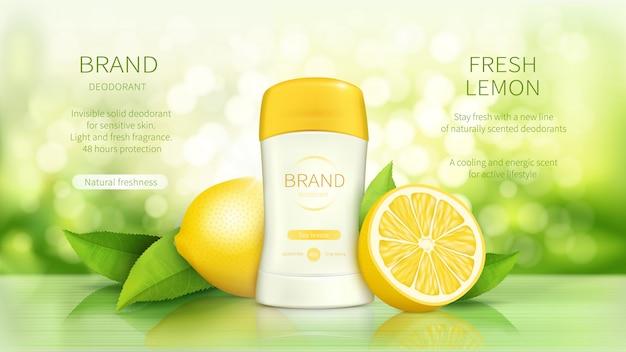 Cartaz promocional para desodorizante em stick seco Vetor grátis