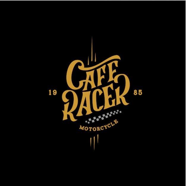 Cartaz retro da motocicleta do piloto do café Vetor Premium