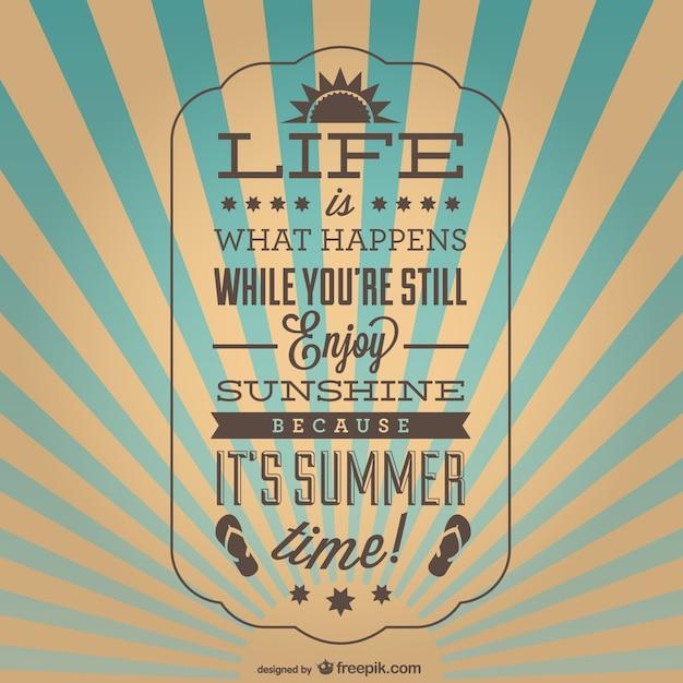 Cartaz verão inspiração vintage Vetor grátis