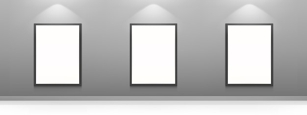 Cartazes de cinema em branco, molduras brancas Vetor grátis