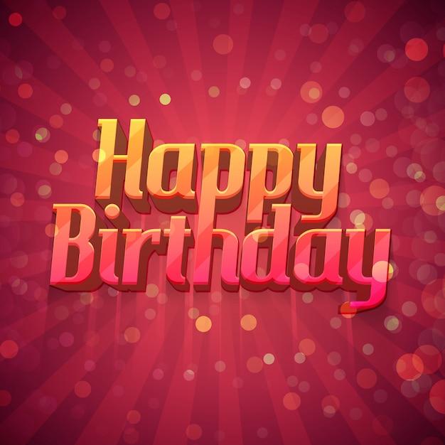 Cartazes de design de modelo, cartões postais, cartões, folhetos, um feliz aniversário Vetor Premium