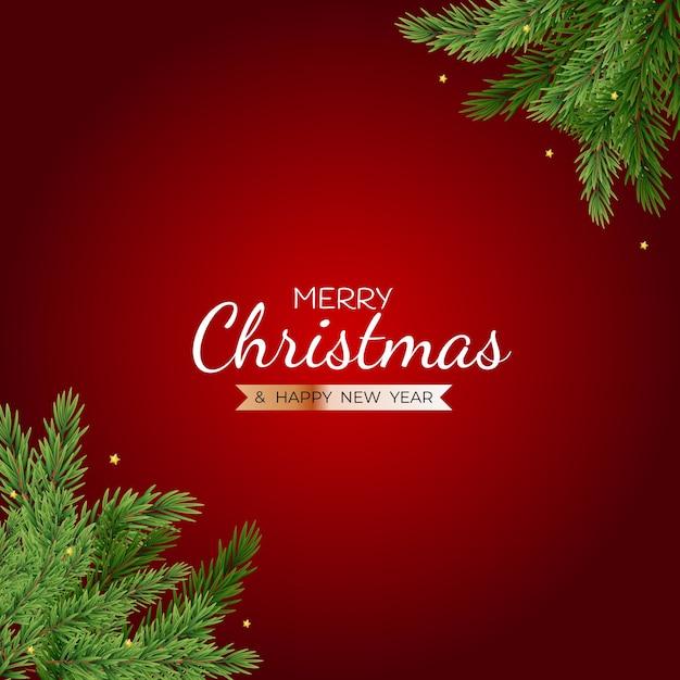 Cartazes de feliz natal e feliz ano novo. Vetor Premium