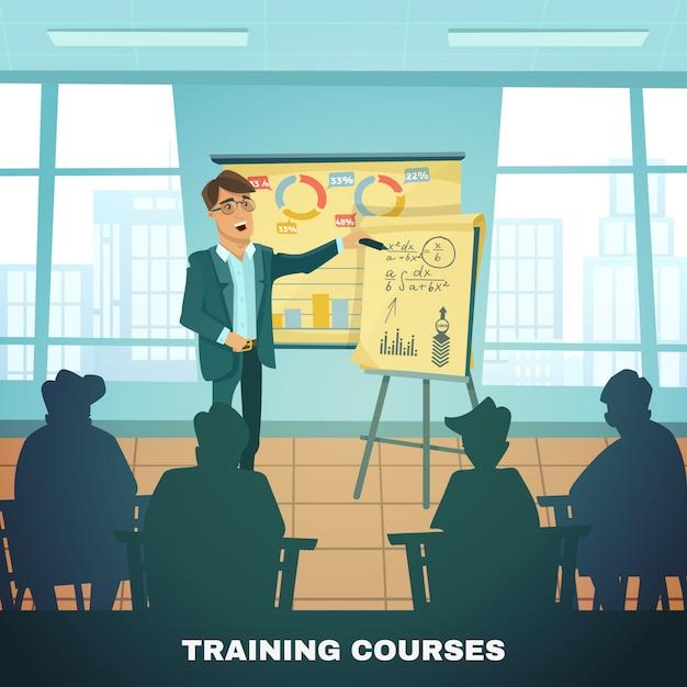 Cartazes dos cursos de formação escolar Vetor grátis