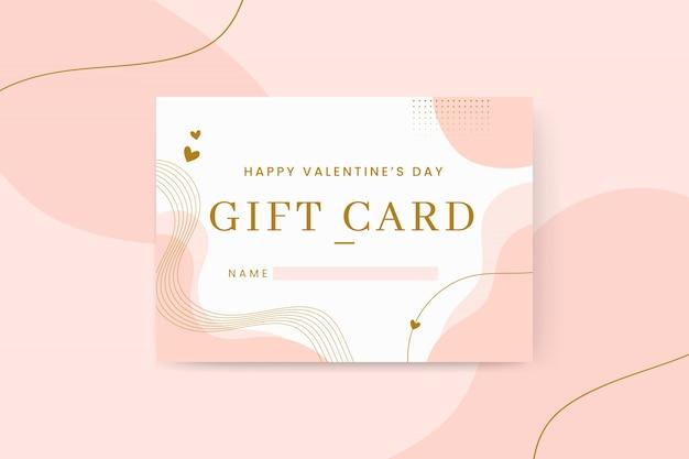 Cartões abstratos e elegantes para o dia dos namorados Vetor grátis