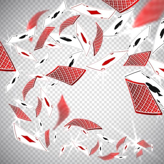 Cartões de casino de poker clássico de holdem Vetor Premium