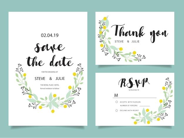 Cartões De Casamento: Cartões De Convite De Casamento, Cartão De Agradecimento