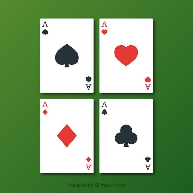 Cartões de jogo de poker Vetor grátis