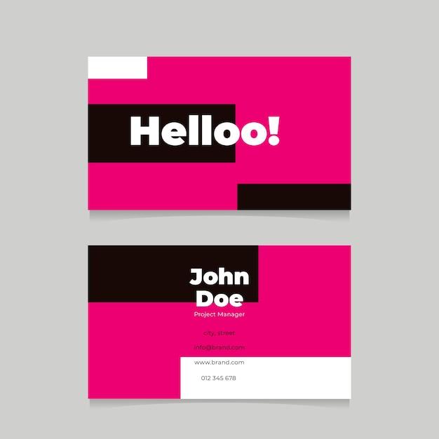 Cartões de néon cor-de-rosa Vetor grátis