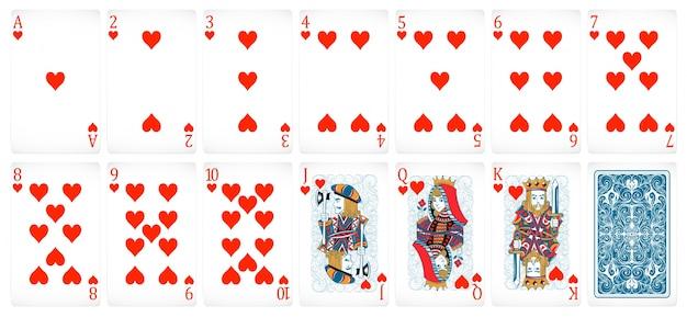 Cartões de poker Vetor grátis